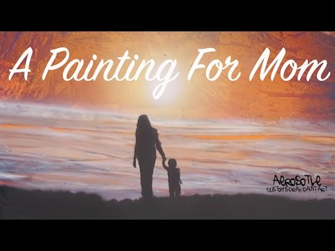 Mother's Day Spray Paint Art