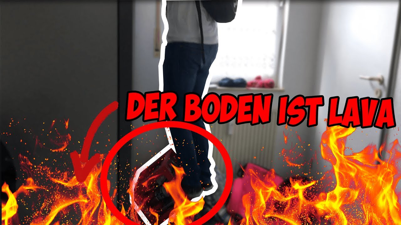 Der boden ist lava challenge goes almost wrong youtube for Boden ist lava