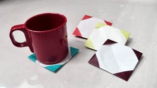How to make origami paper coaster | Origami / Paper Folding Craft Videos & Tutorials.