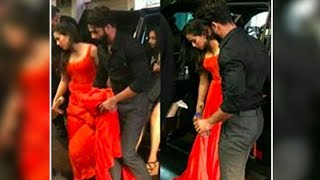 Shahid Kapoor helps wife Mira Rajput with her gown at IIFA Awards 2017