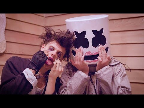 YUNGBLUD Shows Marshmello His Beauty SECRETS  | Tongue Tied Makeup Tutorial thumbnail