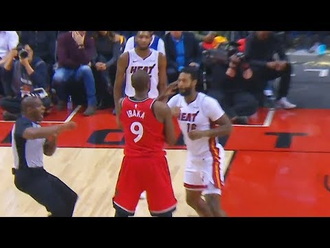 Serge Ibaka FIGHTS James Johnson! Punches Thrown! Both Ejected! Toronto Raptors vs Miami Heat