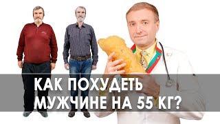 постер к видео Как похудеть на 55 кг за год и держать вес? Правильное питание для мужчин. История похудения. 12+