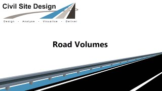 Civil Site Design - Roads - Volume Calculations