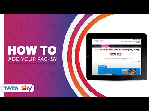 Tata Sky Diy How To Add Your Packs