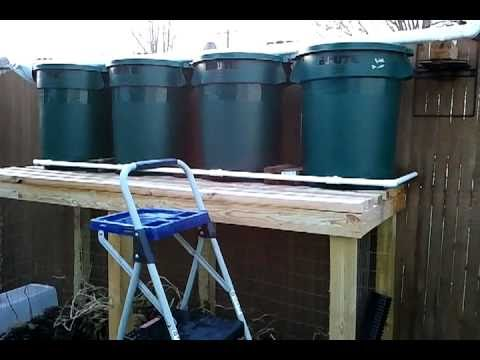 How To Build A 125 Gallon Rain Barrel System Gravity Fed