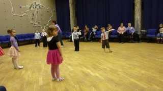 Открытый урок по бальным танцам. 1 год обучения. Школа 82, г. Черноголовка