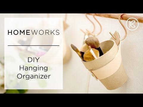 DIY Small Bathroom Organizer