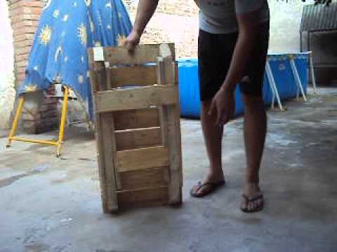 mesita plegable de madera de tarima  YouTube