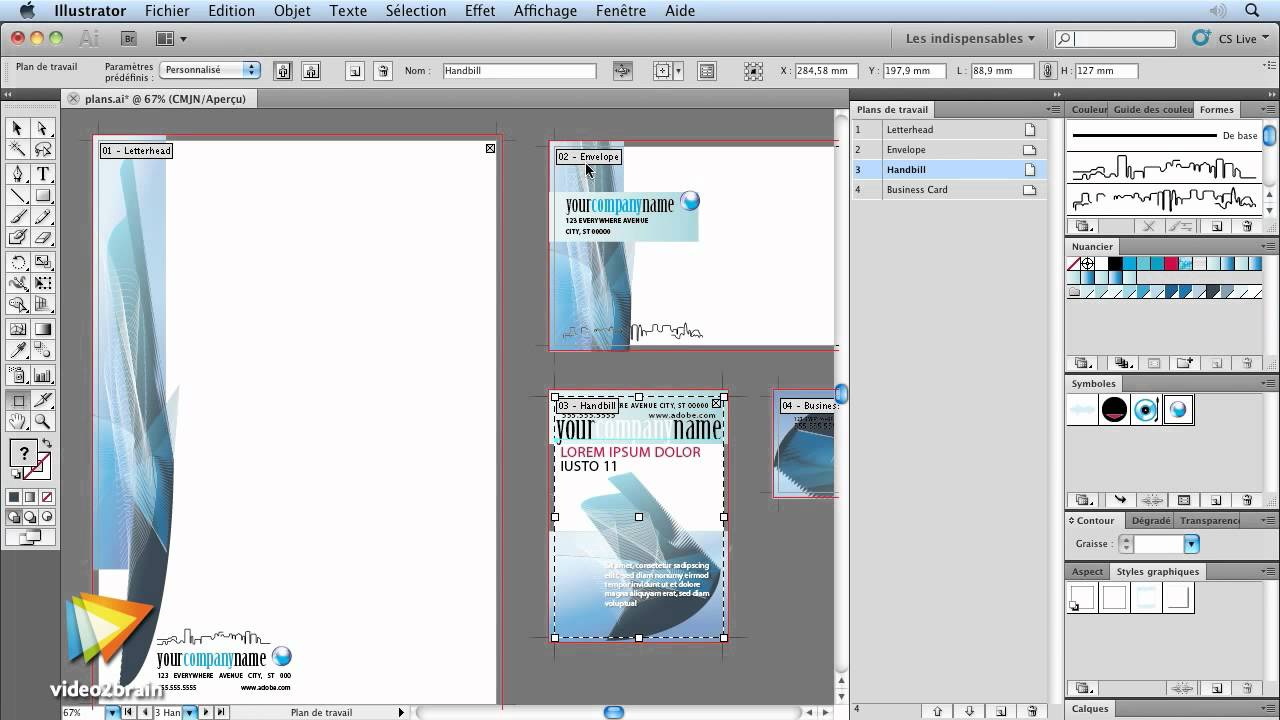Illustrator CS5 Travailler Avec Les Plans De Travail