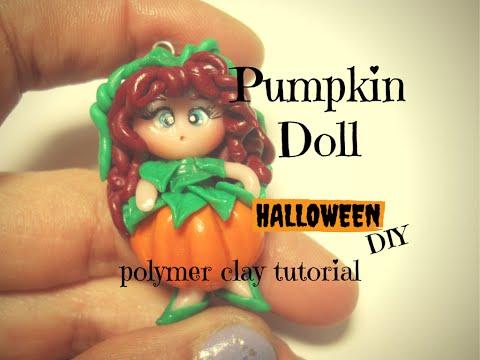 halloween-pumpkin-doll-~-bambolina-vestita-da-zucca-|-polymer-clay-tutorial