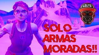 💀¡GANANDO SOLO con ARMAS MORADAS! 💀 ~ FORTNITE