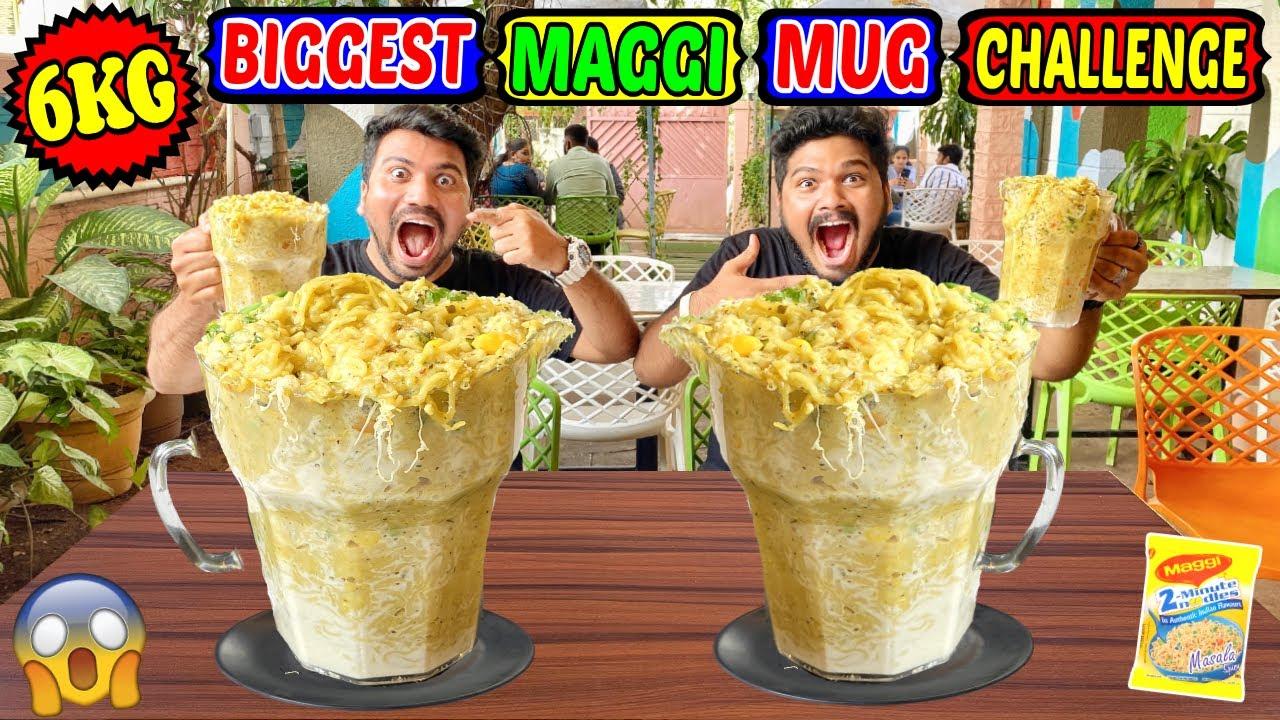 6 KG BIGGEST MAGGI MUG EATING CHALLENGE | MASSIVE MAGGI MUG COMPETITION | (Ep-418)