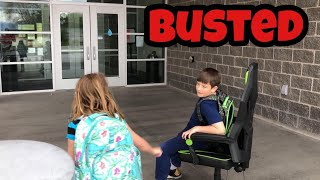 Kid Temper Tantrum Takes His Gaming Chair To School - BUSTED! …