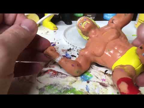 Hulk Hogan LJN WWF Figure- How to take off scuff marks