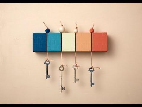 How to make a coloured key holder