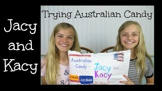 Trying Australian Candy ~ Jacy and Kacy