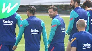 Messi And Barcelona Teammates Train Ahead Of Penultimate La Liga Game   La Liga   2020/21