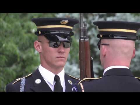 EXCLUSIVE: Arlington National Cemetery - Unknown Soldier & Wreath Laying Ceremony.