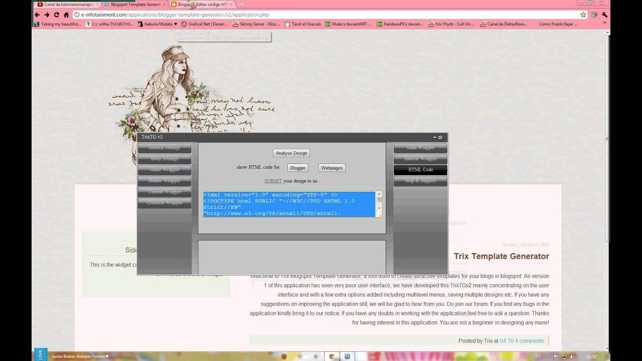 Como crear una Plantilla de Blogger Online? - YouTube