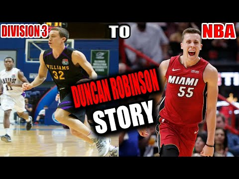 THE MOST INTRIGUING BASKETBALL STORY YOU WILL HEAR ABOUT... FROM D3 TO THE NBA!!! DUNCAN ROBINSON