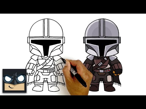 How To Draw The Mandolorian   Step By Step Tutorial