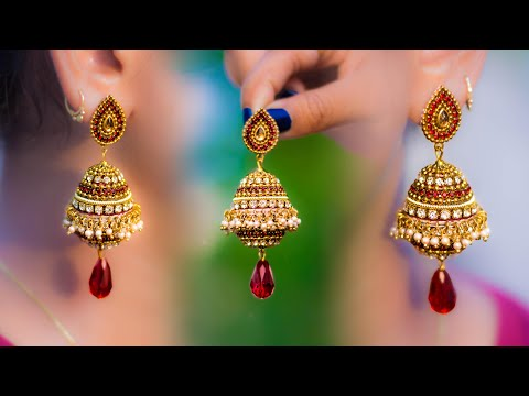 Make beautiful Paper Pendant Earrings | handmade jewelry | made out of paper | Art with Creativity
