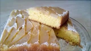 Бисквит рецепт  Простой рецепт бисквита с грушей