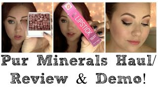 Pür Minerals | Haul/Review & Demo!