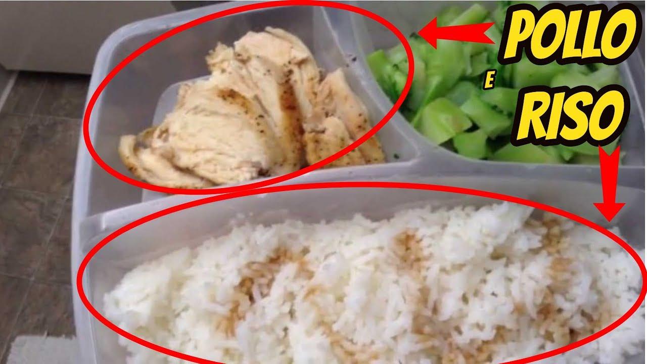 dieta muscolare di riso e pollo