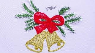 Como Bordar Sinos de Natal