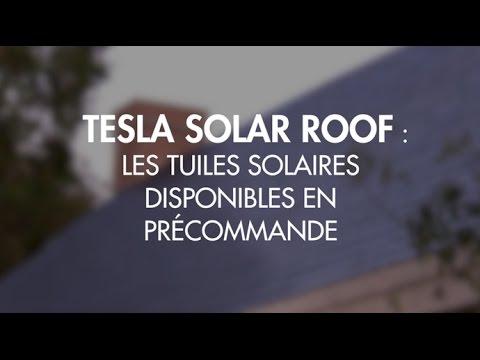 Vous pouvez précommander les tuiles solaires Tesla en France