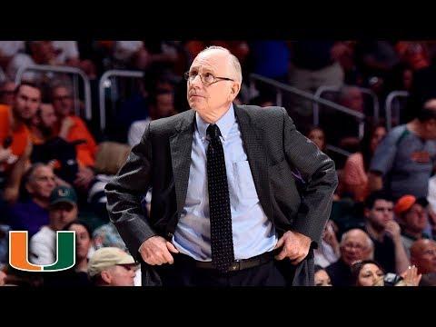 Jim Larranaga Proud Of Miami Team After 3rd-Straight NCAA Tournament Berth