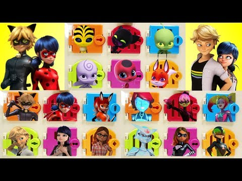 Miraculous Ladybug Villains and Kwami Trapped Doors Surprises - Compilation