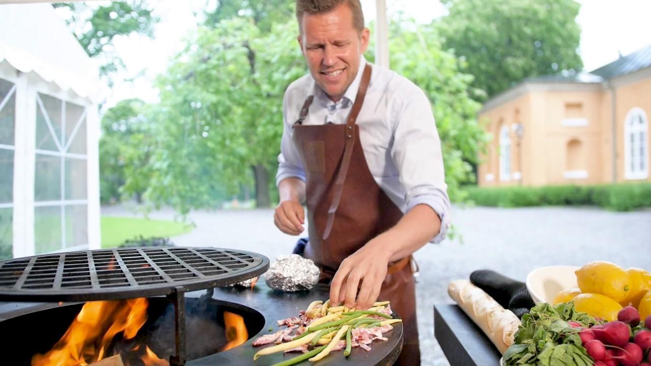 bakad potatis grill