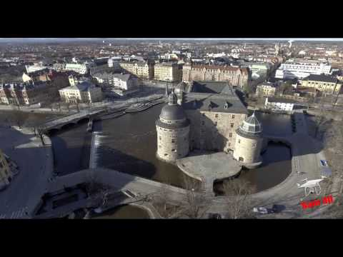 Örebro castle Sweden From Above HD/ Part Tow