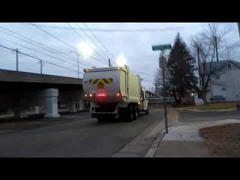 City of newark Delaware garbage truck collecting garbage