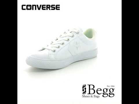 f01ed339988173 Converse 651827C 100 Star Player EV OX White Kids Shoes - YouTube