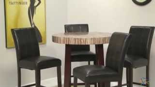 Carmine Round Bar-height Table Set - Product Review Video