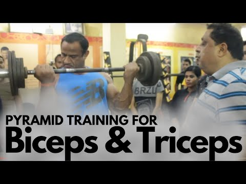 Pyramid training for Biceps and Triceps.