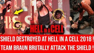 The Shield BRUTALLY DESTROYED At Hell in A Cell ! Roman vs Braun ! Hell in A Cell 2018 Highlights