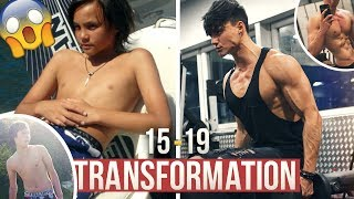 MY 20 YEARS YOUNG NATURAL BODY TRANSFORMATION - From SKINNY to ATHLETIC | 15-19 MUSCLE EVOLUTION 