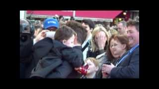 robert downey jr being so sweet with kid giving him a tour of stark s car iron man 3 premiere