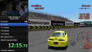 Gran Turismo 2 any% (JP/No License Prizes) - 1:10:38