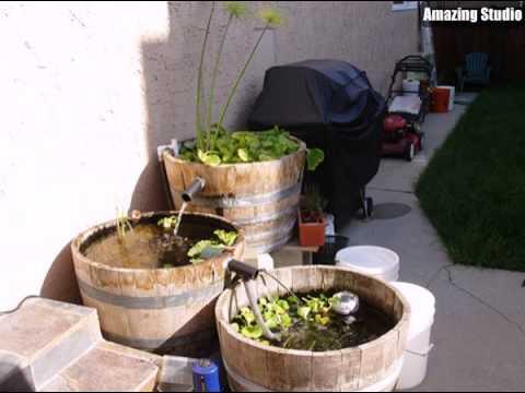 Diy wine barrel fountain garden ideas youtube diy wine barrel fountain garden ideas sisterspd