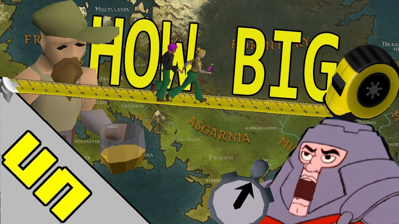How big Is The OSRS Map? (Old School Runescape Scale)