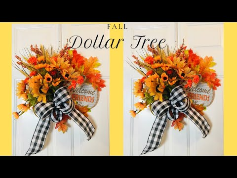 Fall Dollar Tree DIY Splatter Screen Wreath 🌻