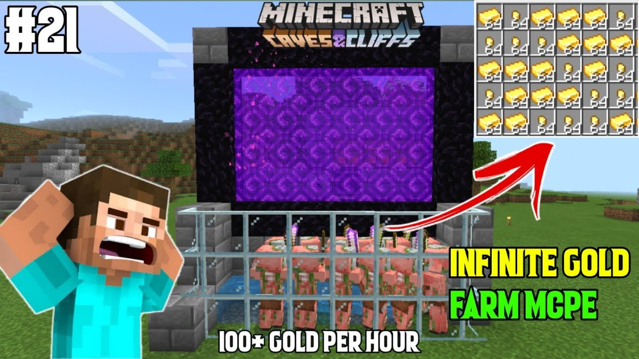 I MADE AN INFINITE GOLD FARM IN MINECRAFT PE | Part 21 | LordN Gaming
