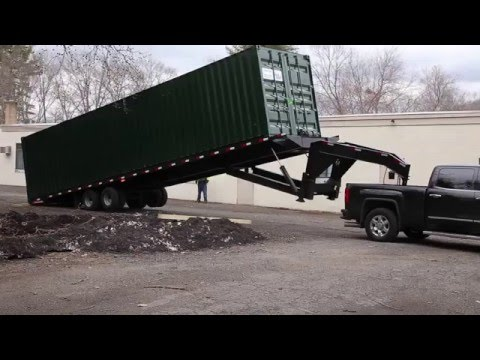 How Much Room Is Required To Take Delivery Of A 40' Shipping Container?