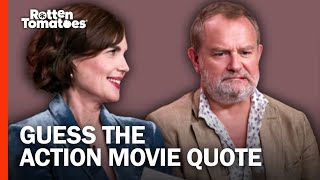 Downton Abbey's Elizabeth McGovern & Hugh Bonneville Play 'Guess the Action Movie Quote'